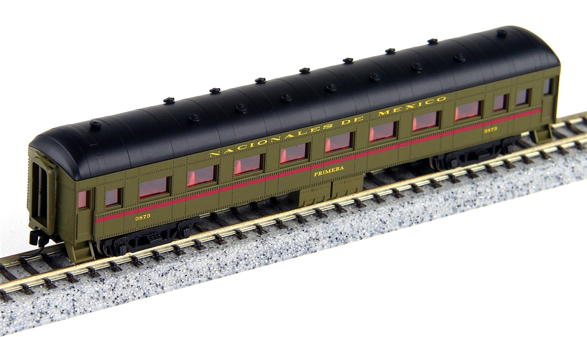 N Scale - Wheels of Time - 361 - Passenger Car, Harriman, 60 Foot Coach - Ferrocarriles Nacionales de México - 3873