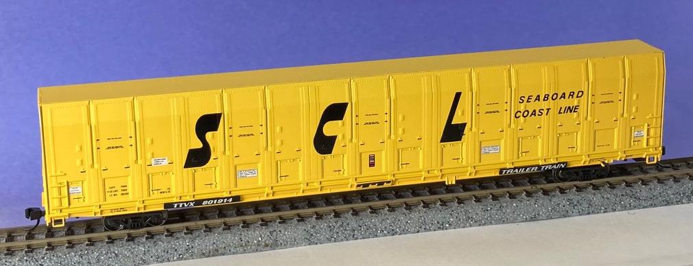 N Scale - ExactRail - EN-50501-2 - Autorack, ACF, Vert-A-Pac - Seaboard Coast Line - 801914