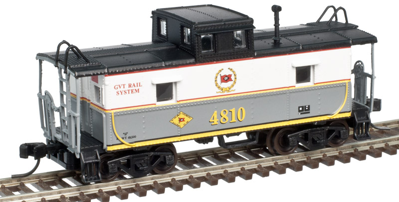 N Scale - Atlas - 50 002 582 - Caboose, Cupola, Steel, C&O - Delaware-Lackawanna - 4810