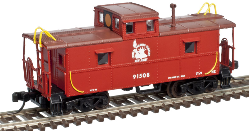 N Scale - Atlas - 50 002 586 - Caboose, Cupola, Steel, C&O - Jersey Central - 91513