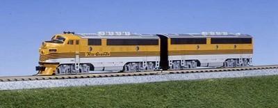 N Scale - Kato USA - 106-0303 - Locomotive, Diesel, EMD F3 - Rio Grande - 5521, 5522