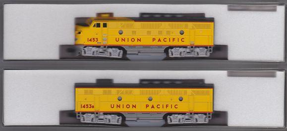N Scale - Kato USA - 106-0305 - Locomotive, Diesel, EMD F3 - Union Pacific - 1453, 1453B