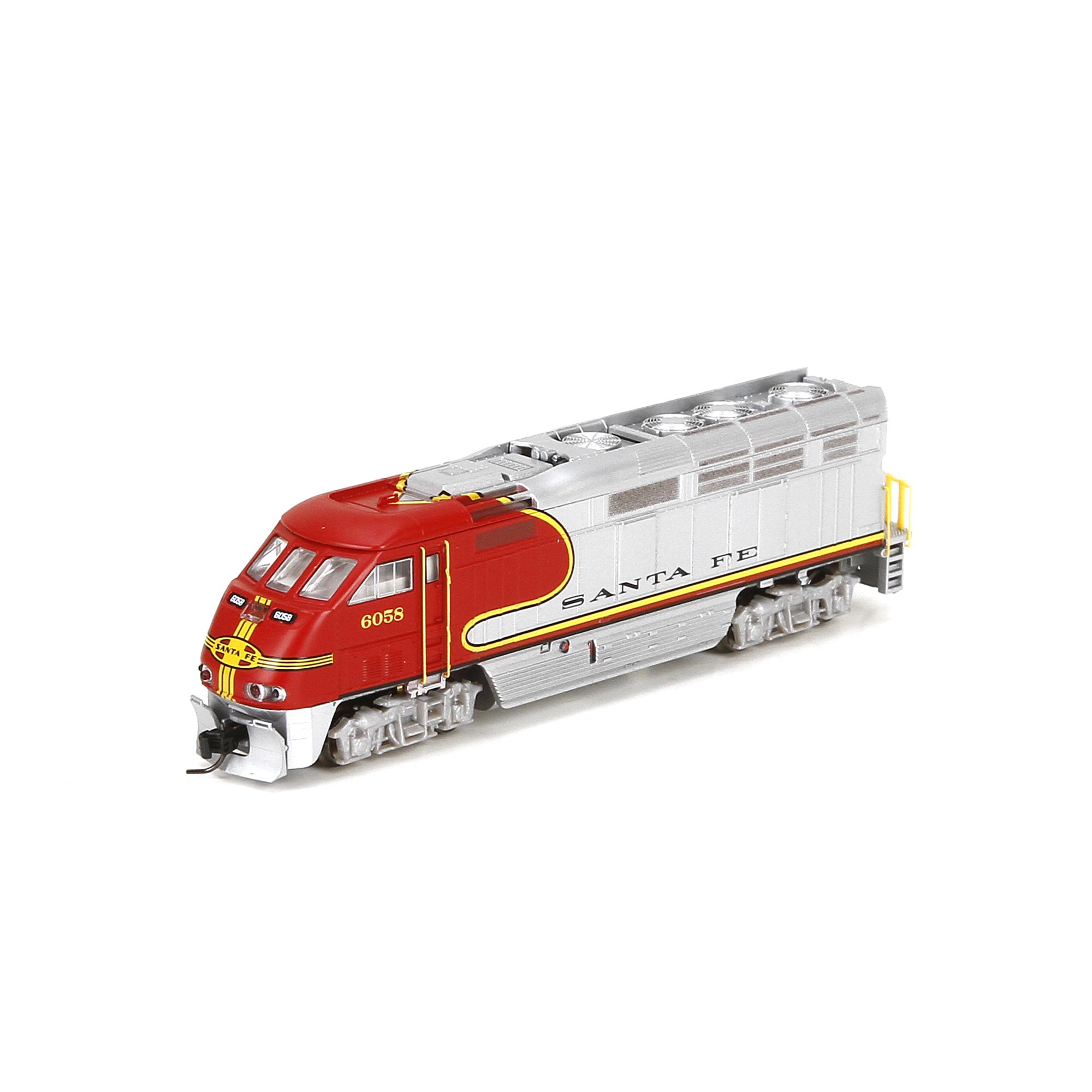 N Scale - Athearn - 23776 - Locomotive, Diesel, EMD F59PHi - Santa Fe - 6058