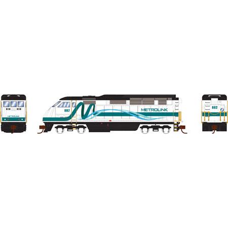 N Scale - Athearn - 6791 - Locomotive, Diesel, EMD F59PHi - Metrolink - 882