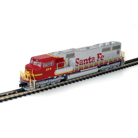 N Scale - Athearn - 10701 - Locomotive, Diesel, EMD SD75 - Santa Fe - 214