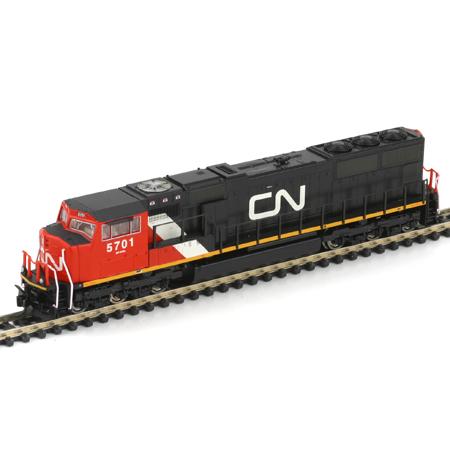 N Scale - Athearn - 10716 - Locomotive, Diesel, EMD SD75I - Canadian National - 5701