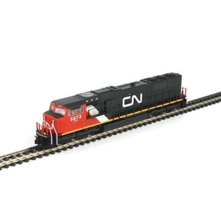 N Scale - Athearn - 10718 - Locomotive, Diesel, EMD SD75I - Canadian National - 5673