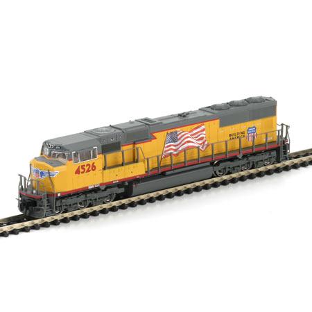 N Scale - Athearn - 10725 - Locomotive, Diesel, EMD SD70 - Union Pacific - 4526