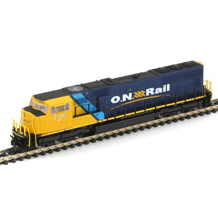 N Scale - Athearn - 10732 - Locomotive, Diesel, EMD SD70 - Ontario Northland - 2100