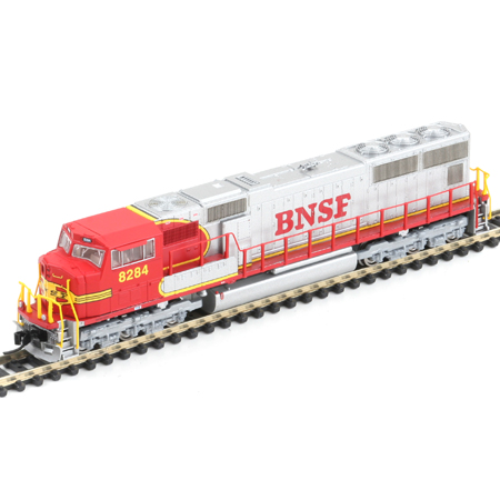 N Scale - Athearn - 10741 - Locomotive, Diesel, EMD SD75 - Burlington Northern Santa Fe - 8284