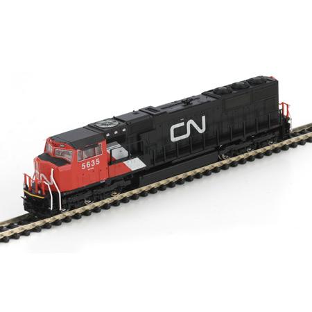 N Scale - Athearn - 17401 - Locomotive, Diesel, EMD SD75I - Canadian National - 5635