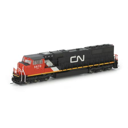 N Scale - Athearn - 17403 - Locomotive, Diesel, EMD SD75I - Canadian National - 5670