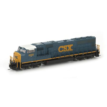 N Scale - Athearn - 17406 - Locomotive, Diesel, EMD SD70 - CSX Transportation - 4689