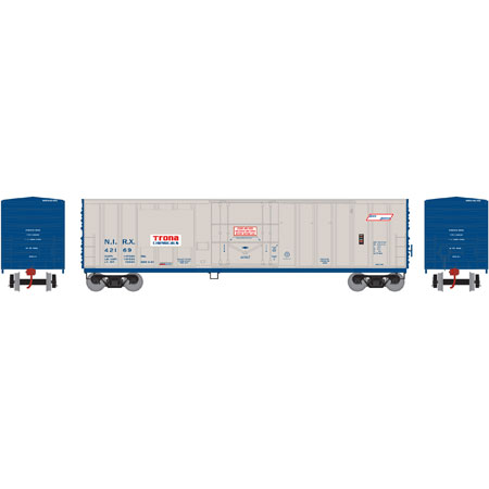 N Scale - Athearn - 06614 - Boxcar, 50 Foot, NACC Insulated - Trona Chemicals - 42169