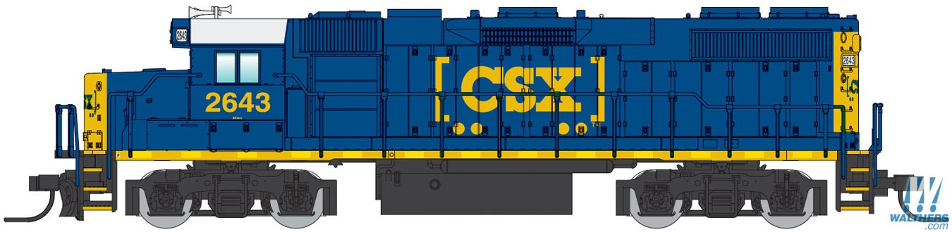 N Scale - Walthers - 929-50308 - Locomotive, Diesel, EMD GP38-2 - CSX Transportation - 2643