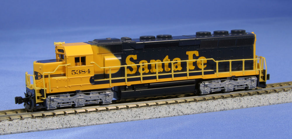 N Scale - Kato USA - 176-3128 - Locomotive, Diesel, EMD SD45 - Santa Fe - 5384