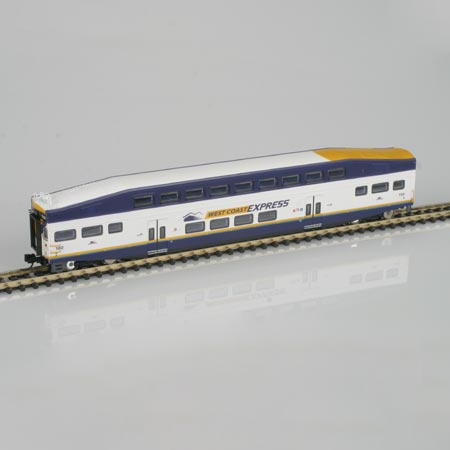 N Scale - Athearn - 10124 - Passenger Car, Commuter, Bombardier Multi-Level - West Coast Express