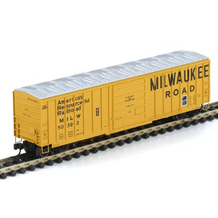 N Scale - Athearn - 10543 - Boxcar, 50 Foot, SIECO - Milwaukee Road - 50392