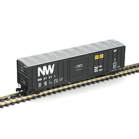 N Scale - Athearn - 10546 - Boxcar, 50 Foot, SIECO - Norfolk & Western - 57571