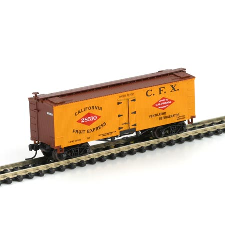 N Scale - Athearn - 10505 - Reefer, Ice, Wood - California Fruit Express - 28510