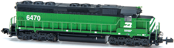 N Scale - Bachmann - 82761 - Locomotive, Diesel, EMD SD45 - Burlington Northern - 6474