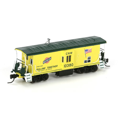 N Scale - Athearn - 23238 - Caboose, Bay Window - Chicago & North Western - 10380