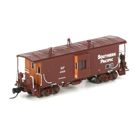 N Scale - Athearn - 23263 - Caboose, Bay Window - Southern Pacific - 4728