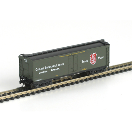 N Scale - Athearn - 11617 - Reefer, 40 Foot, Pfaudler - Carling Brewery  - 723