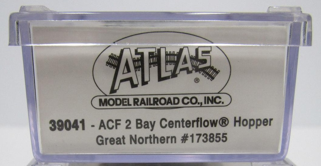 N Scale - Atlas - 39041 - Covered Hopper, 2-Bay, ACF Centerflow - Great Northern - 173855