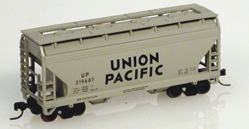 N Scale - Atlas - 39051 - Covered Hopper, 2-Bay, ACF Centerflow - Union Pacific - 219687