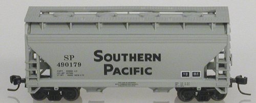 N Scale - Atlas - 39093 - Covered Hopper, 2-Bay, ACF Centerflow - Southern Pacific - 490179