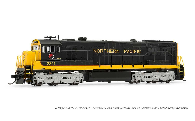 N Scale - Arnold Hornby - HN2314 - Locomotive, Diesel, GE U28C - Northern Pacific - 2811