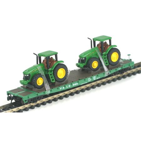 N Scale - Athearn - 10448 - Flatcar, 53 Foot 6 inch GSC Commonwealth - Pittsburgh & Lake Erie - 665