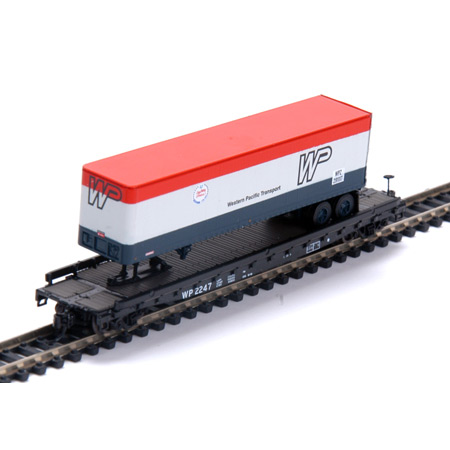 N Scale - Athearn - 17330 - Flatcar, 53 Foot 6 inch GSC Commonwealth - Western Pacific - 2247