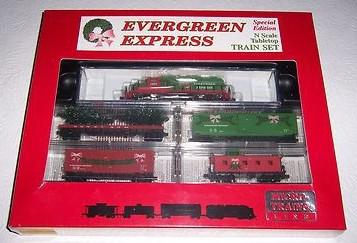 N Scale - Micro-Trains - 1510 - Freight Train, Diesel, North American, 2nd Generation Diesel Era - Merry Christmas