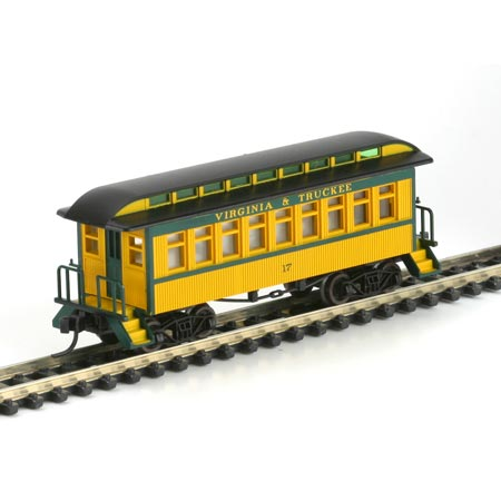 N Scale - Athearn - 11006 - Passenger Car, Early, Overton - Virginia & Truckee - 17