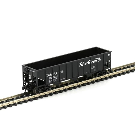 N Scale - Athearn - 11100 - Open Hopper, 3-Bay Steel - Rio Grande - 5 Different Numbers