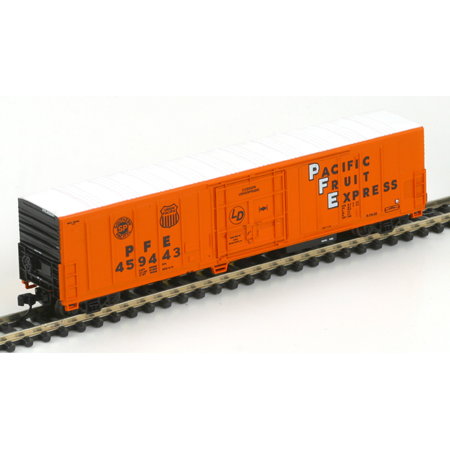 N Scale - Athearn - 11130 - Reefer, 57 Foot, Mechanical, PC&F R-70-20 - Pacific Fruit Express - 459443