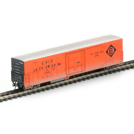 N Scale - Athearn - 11169 - Reefer, 57 Foot, Mechanical, PC&F R-70-20 - Erie Lackawanna - 5024