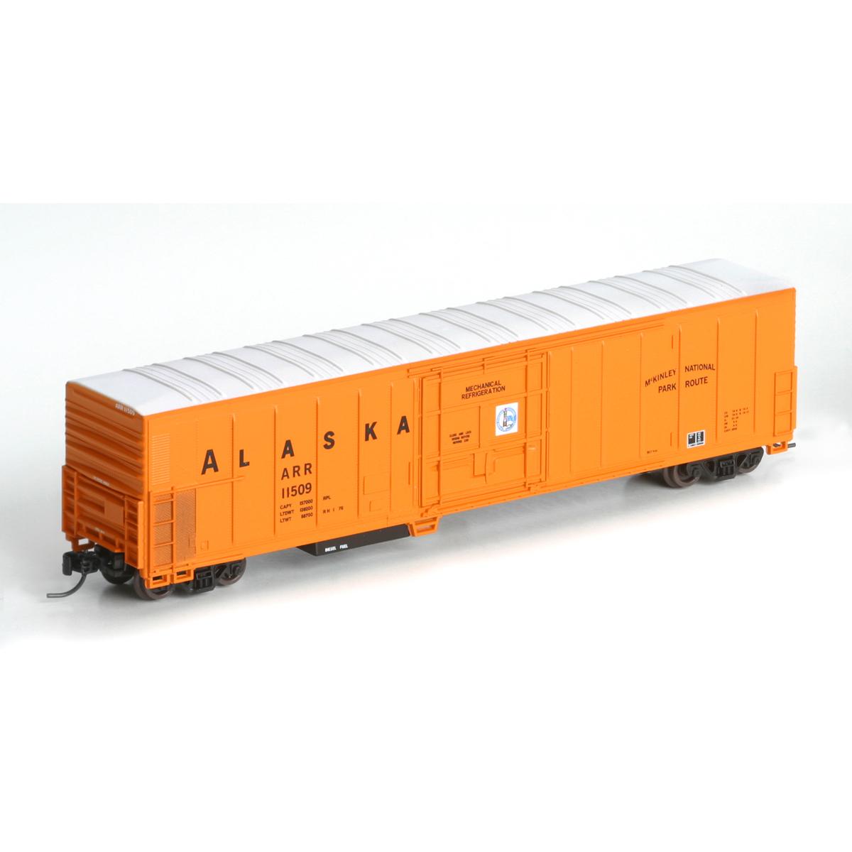 N Scale - Athearn - 17450 - Reefer, 57 Foot, Mechanical, PC&F R-70-20 - Alaska Railroad - 11509