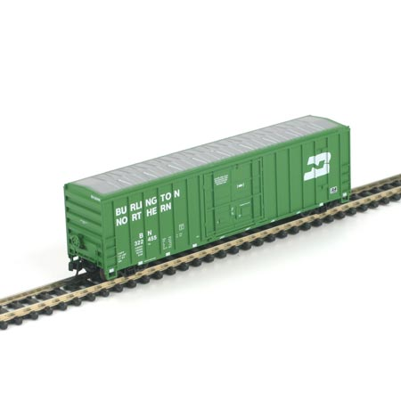 N Scale - Athearn - 11401 - Boxcar, 50 Foot, FMC, 5077 - Burlington Northern - 322455
