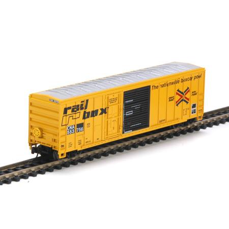 N Scale - Athearn - 17289 - Boxcar, 50 Foot, FMC, 5077 - RailBox - 553756