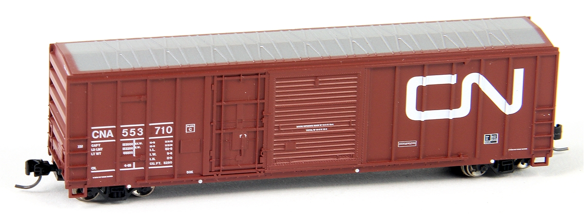 N Scale - Athearn - 24235 - Boxcar, 50 Foot, FMC, 5077 - Canadian National - 553742