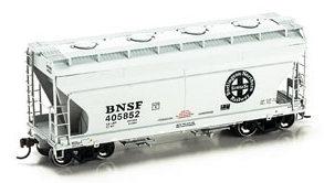 N Scale - Athearn - 12254 - Covered Hopper, 2-Bay, ACF Centerflow - Burlington Northern Santa Fe - 405852