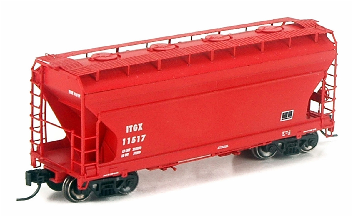 N Scale - Athearn - 12261 - Covered Hopper, 2-Bay, ACF Centerflow - ITG Transportation - 11518