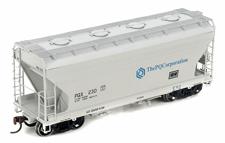 N Scale - Athearn - 12268 - Covered Hopper, 2-Bay, ACF Centerflow - The PQ Corporation - 232