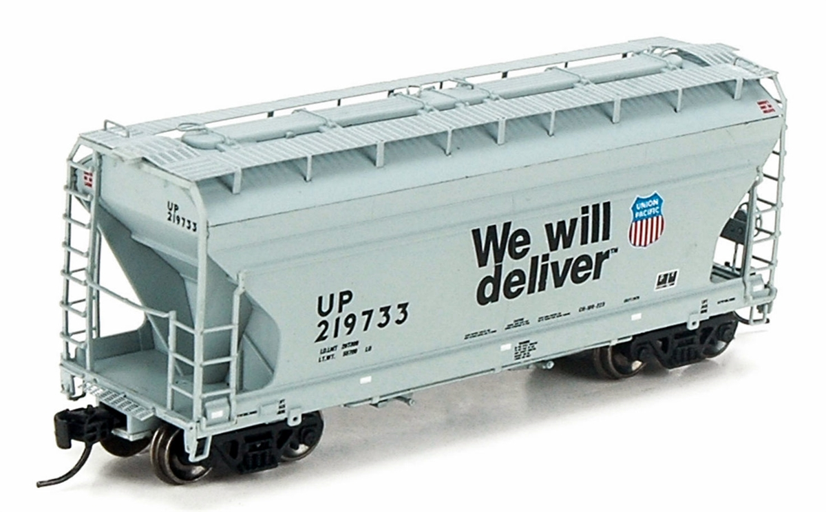 N Scale - Athearn - 12270 - Covered Hopper, 2-Bay, ACF Centerflow - Union Pacific - 219761