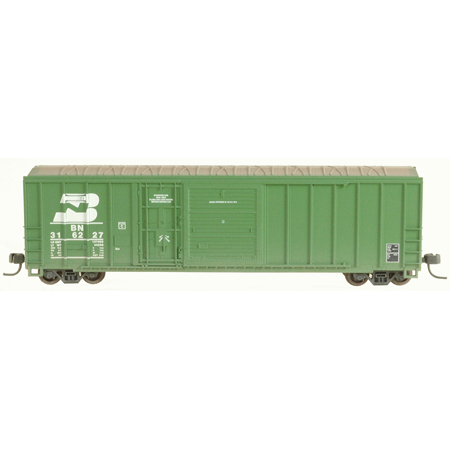 N Scale - Athearn - 11225 - Boxcar, 50 Foot, FMC, 5077 - Burlington Northern - 316227