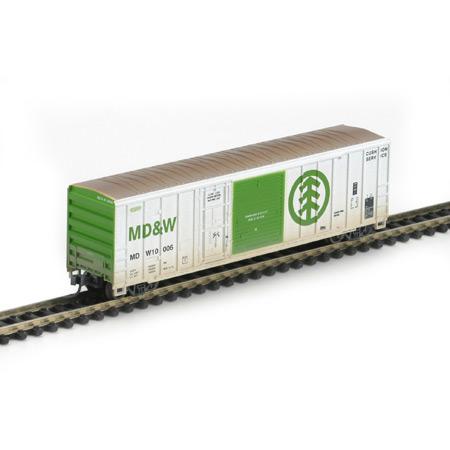 N Scale - Athearn - 11226 - Boxcar, 50 Foot, FMC, 5077 - Minnesota Dakota and Western - 10006