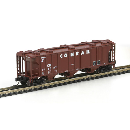 N Scale - Athearn - 11256 - Covered Hopper, 3-Bay, PS2 2893 - Conrail - 883532